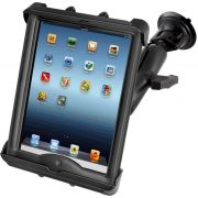 RAM Twist-Lock™ Suction Cup Mount with Tab-Tite™ Universal Spring Loaded Cradle for the Apple iPad 1-4 with LifeProof & Lifedge Cases
