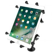 RAM Flat Surface Mount with LONG Double Socket Arm & Universal X-Grip® Cradle for 10