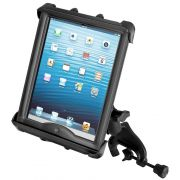 RAM Yoke Clamp Mount with Tab-Tite™ Universal Spring Loaded Cradle for 10