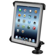 RAM Flat Surface Mount with Tab-Tite™ Universal Spring Loaded Cradle for the Apple iPad 1-4 WITH OR WITHOUT LIGHT DUTY CASE