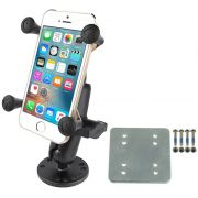 RAM Flat Surface Mount with Backer Plate & Universal X-Grip® Cell/iPhone Cradle