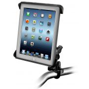 RAM Handlebar or Rail Mount with Tab-Tite™ Universal Spring Loaded Cradle for the Apple iPad 1-4 WITH OR WITHOUT LIGHT DUTY CASE