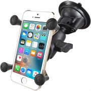 RAM Twist-Lock™ Suction Cup with Short Double Socket Arm and Universal X-Grip® Cell/iPhone Cradle