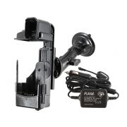 RAM Assembled Twist-Lock™ Suction Cup Mount with Powered Dock (EXTERNAL POWER, CIGARETTE PLUG, BARE WIRE VERSION) for the Motorola MC70, MC75 & MC75A0-HC