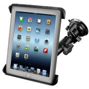 RAM Twist-Lock™ Suction Cup Mount with Tab-Tite™ Universal Spring Loaded Cradle for the Apple iPad 1-4 WITH OR WITHOUT LIGHT DUTY CASE