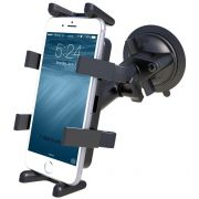 RAM Twist-Lock™ Suction Cup Mount with Universal Finger-Grip™ Phone/Radio Cradle