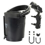 RAM Level Cup™ Drink Holder with Short Length Arm and Motorcycle Brake/Clutch Reservoir Base