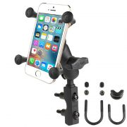 RAM Combination Brake/Clutch Reservoir U-Bolt Mount with Short Arm and Universal X-Grip® Cell/iPhone Cradle