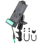 RAM Brake/Clutch Reservoir Mount with Universal GDS® Phone Charging Dock for RAM IntelliSkin® Products