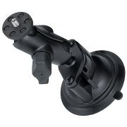 RAM Twist-Lock™ Suction Cup Mount with Short Double Socket Arm & 1/4-20 Camera Threaded Adapter