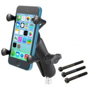 RAM Motorcycle Handlebar Clamp Mount with Universal X-Grip® Phone Holder