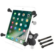 RAM Motorcycle Handlebar Clamp Mount with Universal X-Grip® Small Tablet Holder