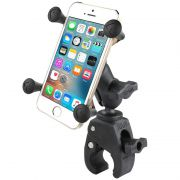RAM Small Tough-Claw™ Base with Short Double Socket Arm and Universal X-Grip® Cell/iPhone Cradle