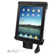 RAM Tab-Lock™ Model Specific Sync & Lock Cradle for the Apple new iPad & iPad 2 WITHOUT CASE, SKIN OR SLEEVE