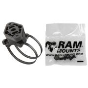 RAM EZ-ON/OFF™ Bicycle Mount with Dual Strap Base, Swivel Diamond Base Adapter & Cradle Attachment Hardware