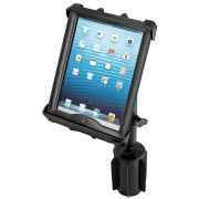 RAM-A-CAN™ II Universal Cup Holder Mount with Tab-Tite™ Universal Spring Loaded Cradle for 10