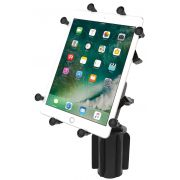 RAM-A-CAN™ II Universal Cup Holder Mount with Double Socket Arm & Universal X-Grip® Cradle for 10