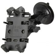 RAM Ratchet Twist-Lock™ Suction Cup Mount with Quick-Grip™ Spring Loaded Phone Holder