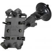 RAM Composite Twist-Lock™ Suction Cup Mount with Quick-Grip™ Universal Spring Loaded Cell Phone Cradle