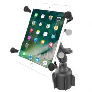 RAM Stubby™ Cup Holder Mount with Universal X-Grip® Small Tablet Holder