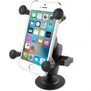 RAM Flex Adhesive Mount with Short Double Socket Arm & Universal X-Grip® Cell Phone Cradle