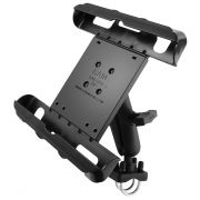 RAM Double U-Bolt Rail Mount with Tab-Tite™ Universal Spring Loaded Cradle for the Apple iPad 1-4 with LifeProof & Lifedge Cases