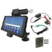 RAM® Key-Lock Powered Mount for Samsung Tab Active2 with Backing Plate