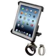 RAM V-Base Clamp Mount & Tab-Tite™ Universal Spring Loaded Cradle for the Apple iPad 1-4 WITH OR WITHOUT LIGHT DUTY CASE