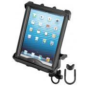 RAM Handlebar or Rail Mount with Tab-Tite™ Universal Spring Loaded Cradle for 10