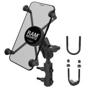 RAM Combination Brake/Clutch Reservoir U-Bolt Mount with Short Arm and Universal X-Grip® for large Cell/iPhone Cradle