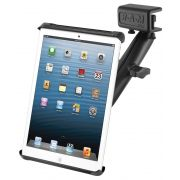 RAM Glare Shield Clamp Mount with Long Double Socket Arm and Tab-Tite™ Cradle for Small Tablets including the Amazon Kindle Fire and Apple iPad mini