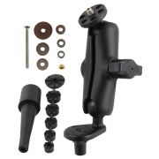 RAM Fork Stem Motorcycle Base with Double Socket Arm and 1/4-20 Camera Threaded Adapter