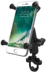 RAM Handlebar Rail Mount with Zinc Coated U-Bolt Base & Universal X-Grip® Large Phone/Phablet Cradle