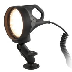 "RAM LED Spotlight Mount with 2.5"" Round Drill-Down Base"
