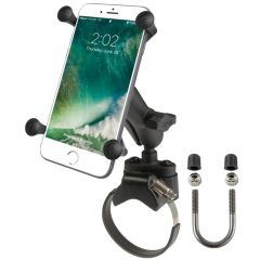 RAM Strap Clamp, Roll Bar Mount with Universal X-Grip® Large Phone Cradle