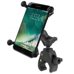 RAM Small Tough-Claw™ Base with Short Double Socket Arm and Universal X-Grip® Large Phone/Phablet Cradle