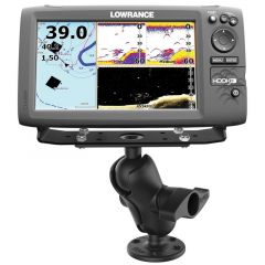 "RAM® Universal D Size Ball Mount with Short Arm for 9""-12"" Fishfinders and Chartplotters"
