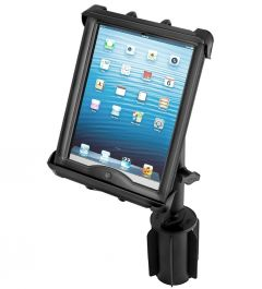 "RAM-A-CAN™ II Universal Cup Holder Mount with Tab-Tite™ Universal Spring Loaded Cradle for 10"" Tablets including HEAVY DUTY CASES"