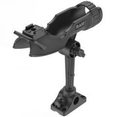 RAM-ROD® HD Fishing Rod Holder with Combination Bulkhead/Flat Surface Mounting Base