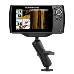 """RAM 1.5"""" Ball Mount with 2.5"""" Round Base & 2"""" x 4"""" Plate for the Humminbird Helix 7 ONLY"""
