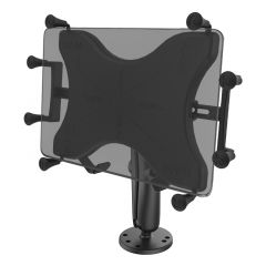 """RAM Flat Surface Mount with LONG Double Socket Arm & Universal X-Grip® Cradle for 10"""" Large Tablets"""