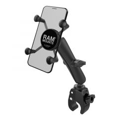RAM Small Tough-Claw™ Base with Long Double Socket Arm and Universal X-Grip® Cell/iPhone Cradle