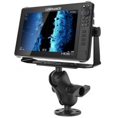 """RAM® Universal D Size Ball Mount with Short Arm for 9""""-12"""" Fishfinders and Chartplotters"""