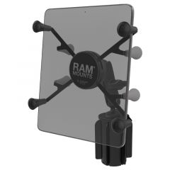 """RAM-A-CAN™ II Universal Cup Holder Mount with Universal X-Grip® Cradle for 7""""-8"""" Tablets"""