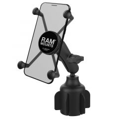RAM Stubby™ Cup Holder Mount with Universal X-Grip® Large Phone Holder